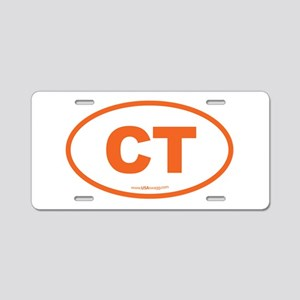 Connecticut CT Euro Oval OR Aluminum License Plate