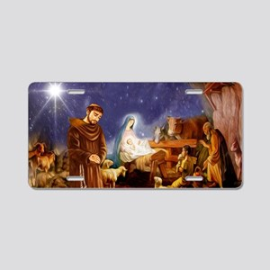 St. Francis Christmas #1 Aluminum License Plate