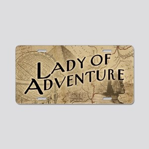 lady-of-adventure_11x18h Aluminum License Plate