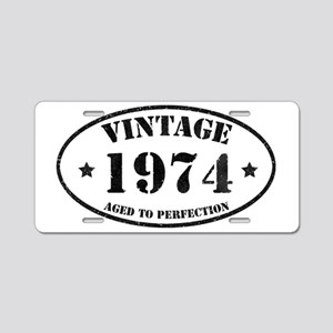 Vintage Aged to Perfection Aluminum License Plate