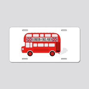 London England Aluminum License Plate