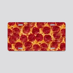 pizzas Aluminum License Plate