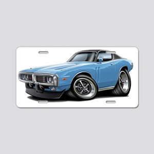 1973-74 Charger Lt Blue-Bla Aluminum License Plate