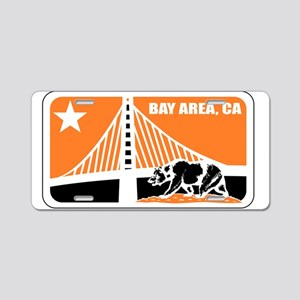 major league bay area orange Aluminum License Plat