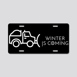 Snow is coming Aluminum License Plate