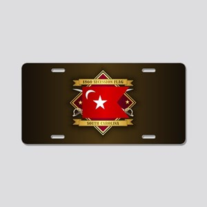 SC Secession Flag Aluminum License Plate