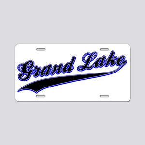 Grand Lake Baseball Logo Aluminum License Plate