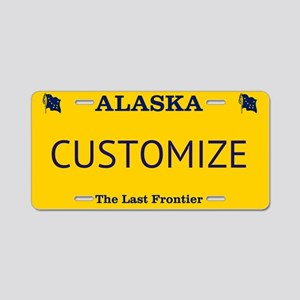 Alaska Custom Aluminum License Plate