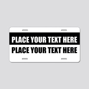 Add text message Aluminum License Plate