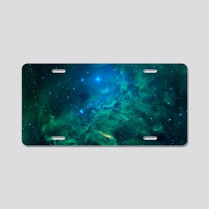 Flaming Star Nebula Aluminum License Plate