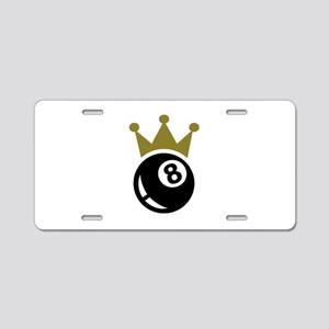 Eight ball billiards crown Aluminum License Plate