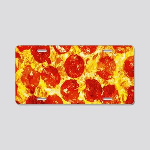 Pizzatime Aluminum License Plate