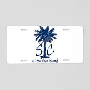 6f1a7dc603fac Hilton Head Island Aluminum License Plates - CafePress