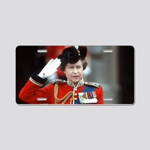 HM Queen Elizabeth II Trooping Aluminum License Pl