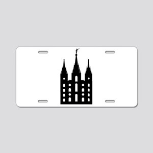 Mormon Style Temple Aluminum License Plate