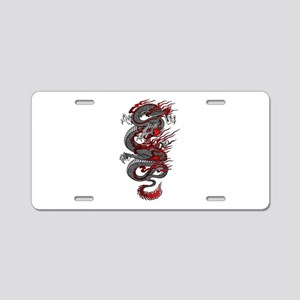Asian Dragon Aluminum License Plate