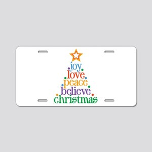 Joy Love Christmas Aluminum License Plate