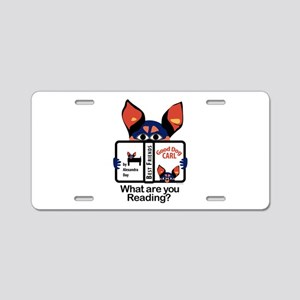 Reading Dog Aluminum License Plate