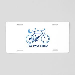 Bike Puns Aluminum License Plates - CafePress