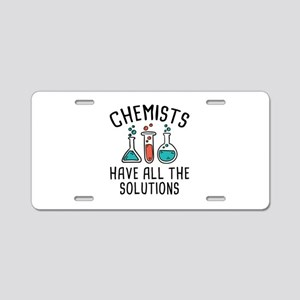Chemists Aluminum License Plate