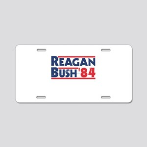 Reagan Bush '84 Aluminum License Plate