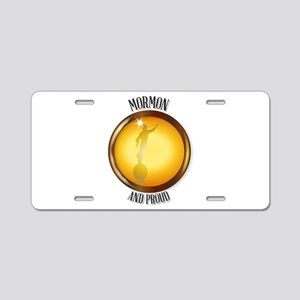 Mormon And Proud Button Aluminum License Plate