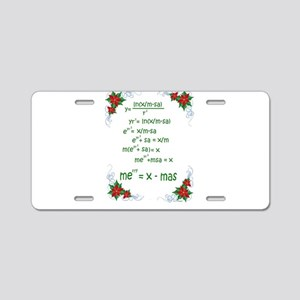 Christmas Math Aluminum License Plate