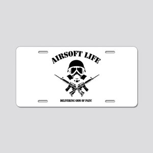 Airsoft Life Aluminum License Plate