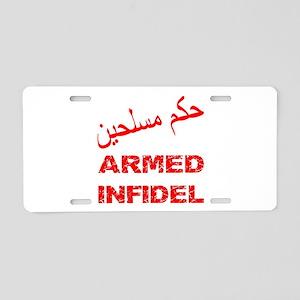 Iraq Marines 9 11 Aluminum License Plates - CafePress