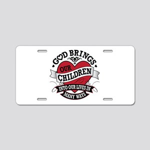 Adoption Tattoo Aluminum License Plate