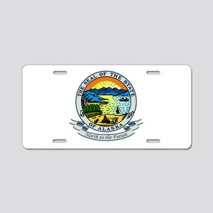 Alaska Seal Aluminum License Plate