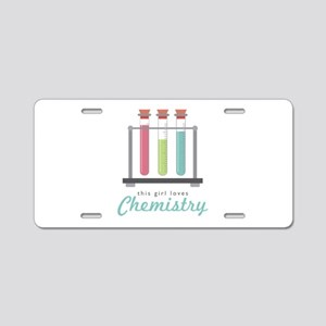 Love Chemistry Aluminum License Plate
