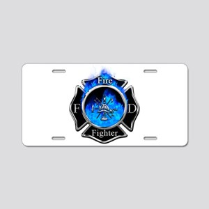 Firefighter Maltese Cross Aluminum License Plate