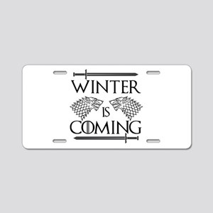 Winter is Coming Aluminum License Plate