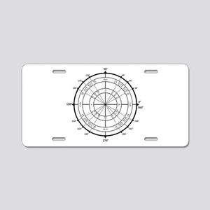 Math Geek Unit Circle Aluminum License Plate