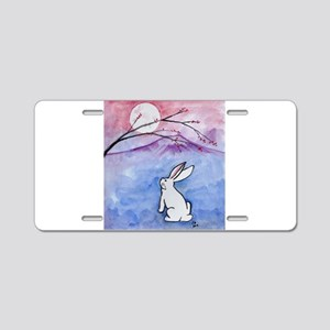 Moon Bunny Aluminum License Plate