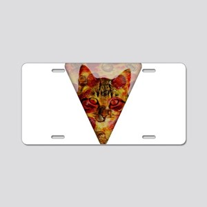 PizzaCat Slice Aluminum License Plate