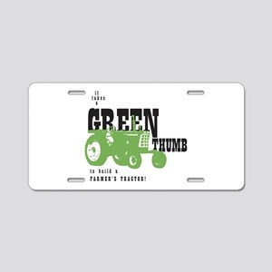 Oliver Green Thumb Aluminum License Plate