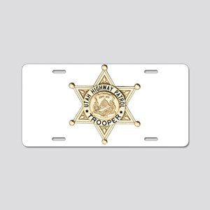 Utah Highway Patrol Aluminum License Plate