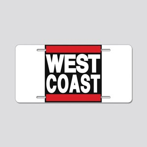 west coast red Aluminum License Plate