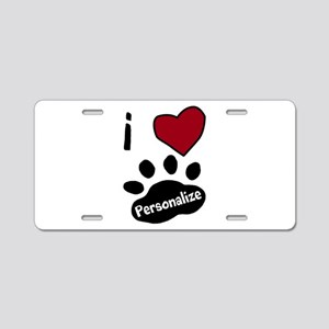 Personalized Pet Aluminum License Plate