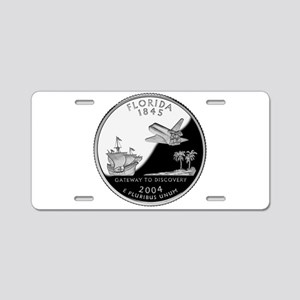 Florida Quarter Aluminum License Plate