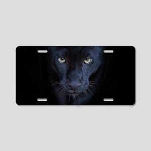 Black Panther Aluminum License Plate