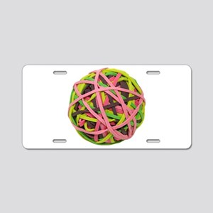 RubberbandBall042310 Aluminum License Plate