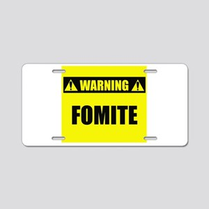 Warning: Fomite Aluminum License Plate