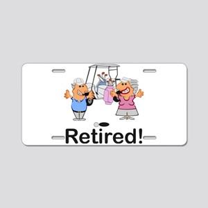 Funny Retirement Golf Coupl Aluminum License Plate