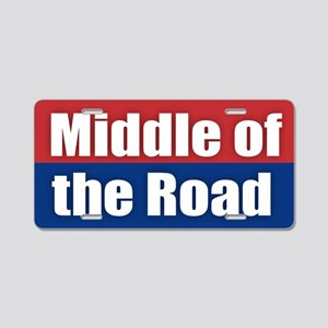 Middle of the Road Aluminum License Plate