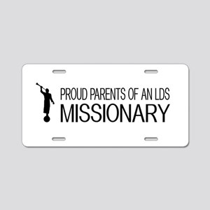 LDS: Proud Missionary Paren Aluminum License Plate