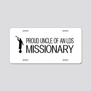 LDS: Proud Missionary Uncle Aluminum License Plate