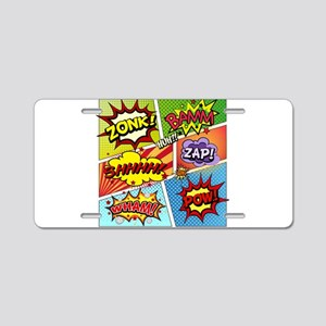 Colorful Comic Aluminum License Plate